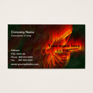 Fiery Fishing Fly Business Cards