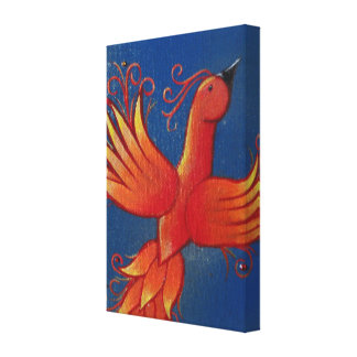 Fiery Flight Wrapped Canvas Stretched Canvas Prints