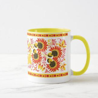Fiery Floral Ornament Mug