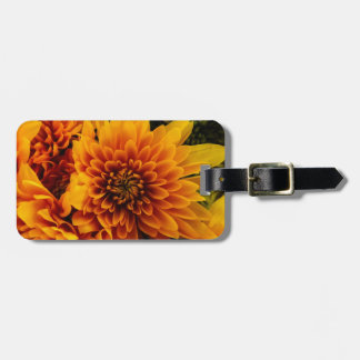 Fiery Flowers Tag For Luggage