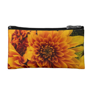 Fiery Flowers with Francis Bacon quote Makeup Bag