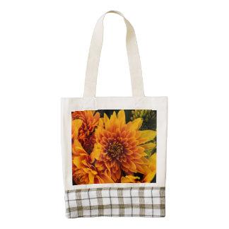 Fiery Flowers Zazzle HEART Tote Bag