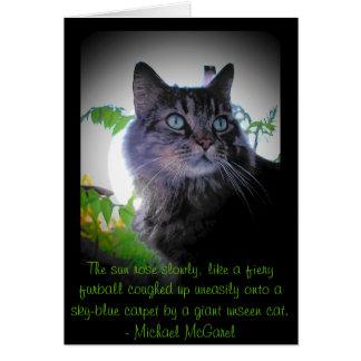 fiery furball - Mickael McGarel quote Card