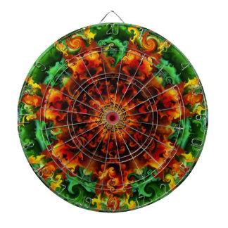 Fiery Garden Dart Boards