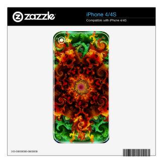 Fiery Garden iPhone 4S Skin