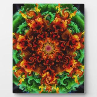 Fiery Garden Plaque