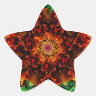 Fiery Garden Star Sticker