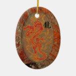 Fiery Good Luck Dragon Ornament