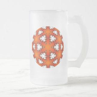 Fiery Goodness Kaleidoscope Mandala 16 Oz Frosted Glass Beer Mug