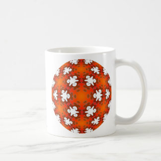 Fiery Goodness Kaleidoscope Mandala Classic White Coffee Mug