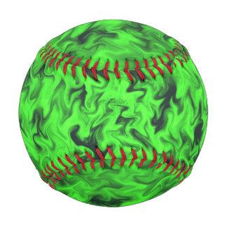 Fiery Green Baseball