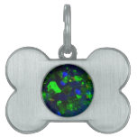 Fiery Green-Black Opal Gifts By Sharles Pet Name Tag