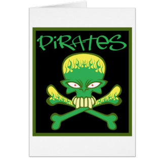 Fiery Green Pirates Card