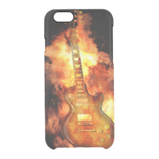 Fiery guitar clear iPhone 6/6S case