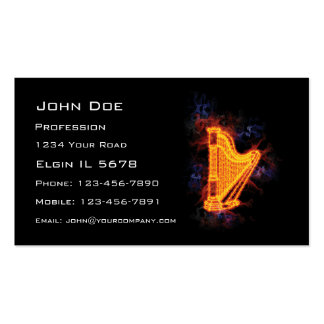 Fiery Harp Business Card Template