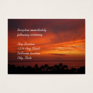 Fiery Hawaiian Sunset Reception Cards
