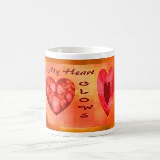 Fiery Hearts Glow Classic White Coffee Mug