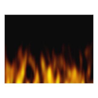 Fiery Hot Flames Backdrop Flyer