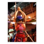Fiery hula hoop greeting card