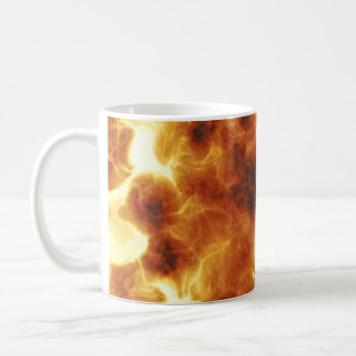 Fiery Inferno Explosion Textured Coffee Mug