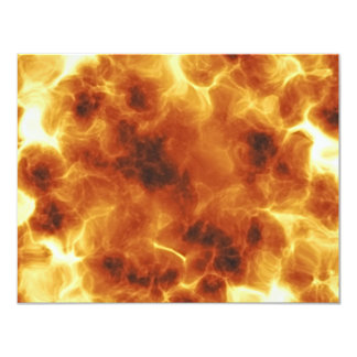 Fiery Inferno Explosion Textured 4.25x5.5 Paper Invitation Card
