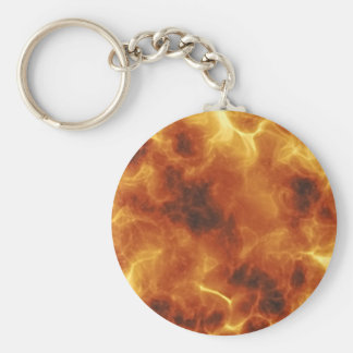 Fiery Inferno Explosion Textured Keychain