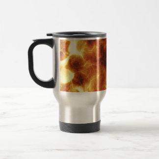 Fiery Inferno Explosion Textured Travel Mug
