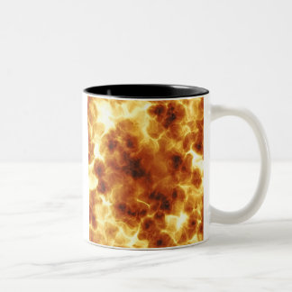 Fiery Inferno Explosion Textured Two-Tone Coffee Mug
