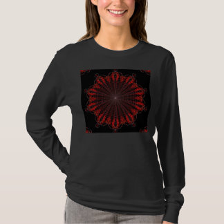 Fiery Inward Tracing Mandala by KLM T-Shirt