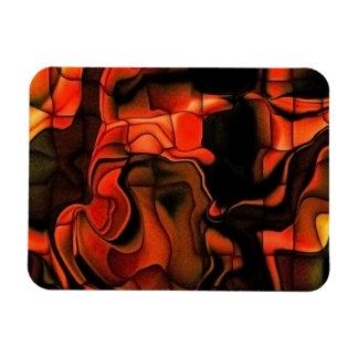 Fiery Jigsaw Magnet