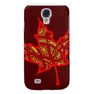 Fiery Leaves 3G/3GS Galaxy S4 Case