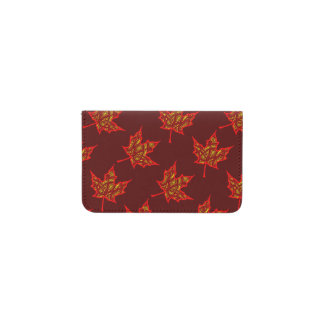 Fiery Leaves Business Card Holder