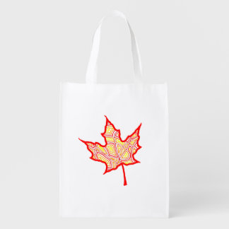 Fiery Leaves Reusable Grocery Bag