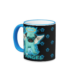 Fiery Lil' Angel Ringer Coffee Mug