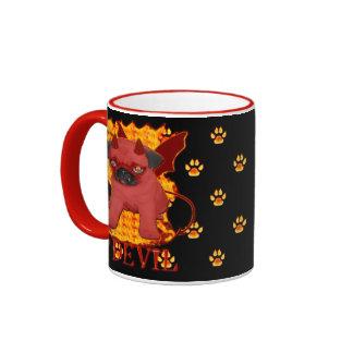 Fiery Lil' Devil Ringer Coffee Mug