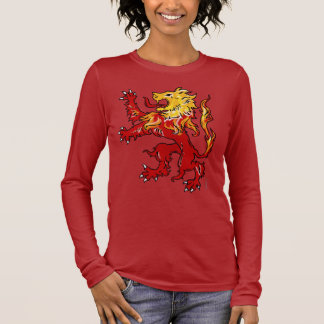 Fiery Lion Rampant long sleeve shirt (dark)
