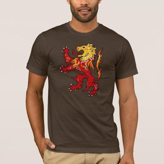 Fiery Lion Rampant shirt (dark)