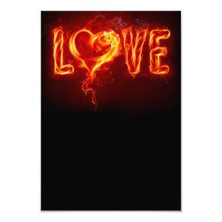 Fiery Love Card