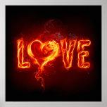 Fiery Love Print
