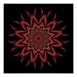 Fiery Mandala Poster