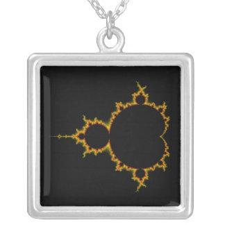 Fiery Mandelbrot Set Necklace