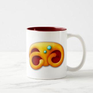 Fiery Maya Animal Claw Two-Tone Coffee Mug