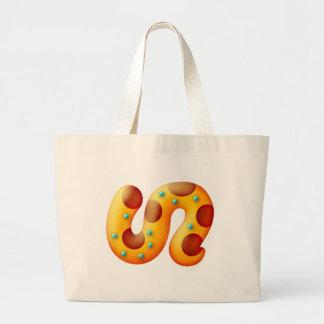 Fiery Maya Animal Tail Large Tote Bag