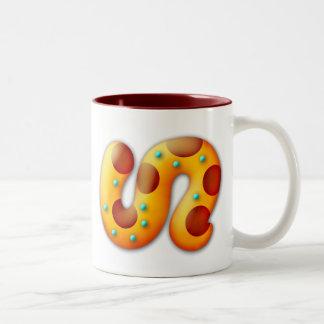 Fiery Maya Animal Tail Two-Tone Coffee Mug