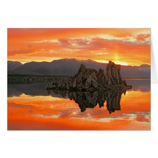 Fiery Mono Lake Skies Card