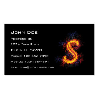 Fiery Monogram S Business Card Template