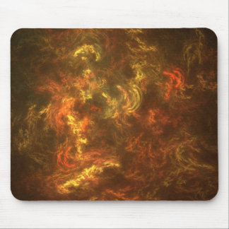 fiery mouse pad