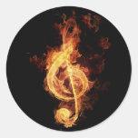 fiery-music sticker