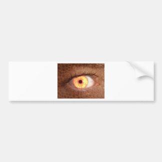 Fiery Mutant Eye Mouse Pad Bumper Sticker