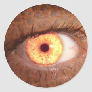 Fiery Mutant Eye Mouse Pad Classic Round Sticker